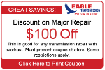 $100 offTransmission Repair Coupon