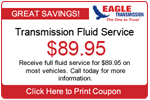 Transmission Fluid Service coupon